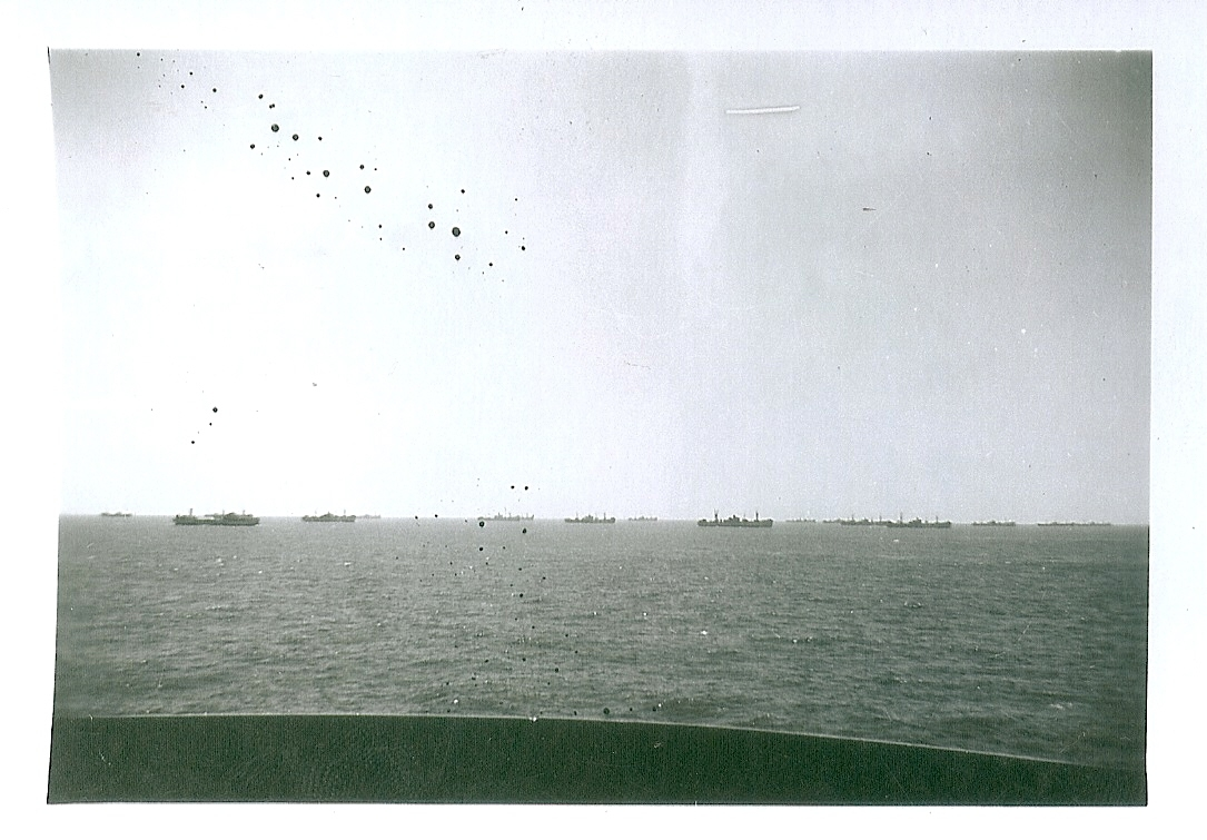 convoy as seen from ship