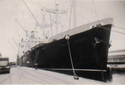 Grace Lines Cargo Passenger Ship Ss Santa Isabel At Callao
